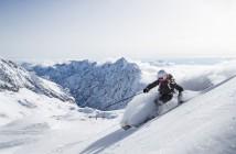 Ski auf dem Skigebiet Zugspitze