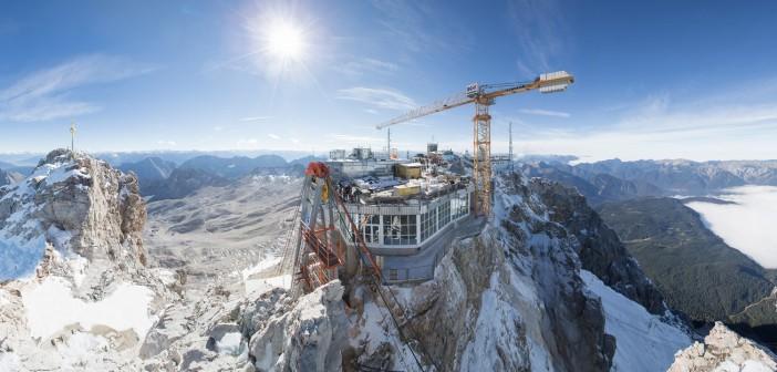 Neubau der Eibsee Seilbahn an der Zugspitze