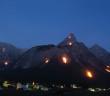 Zugspitze Brennende Feuer