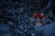 Winterwanderung Nacht Leermoos Zugspitze